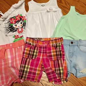 Summer girls size 3 bundle shorts and tops